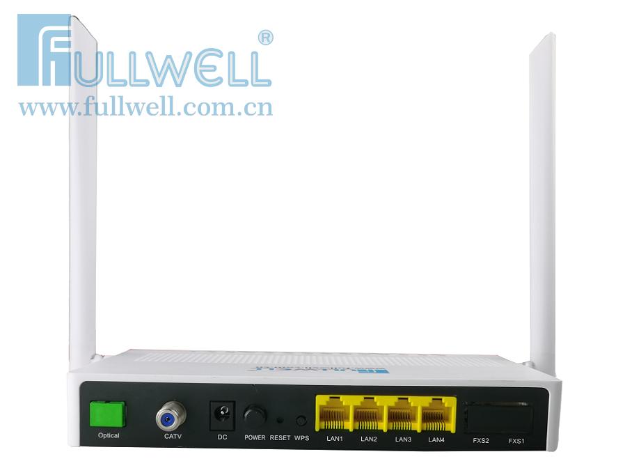 GPON ONT,4GE+CATV+2.4G/5G WIFI
